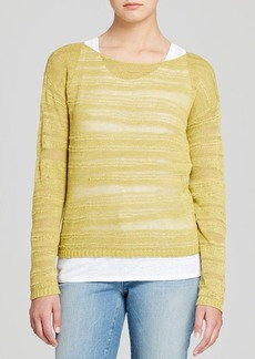 Eileen Fisher Linen Sheer Stripe Sweater