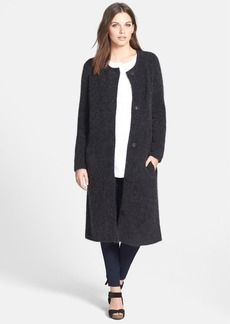 Eileen Fisher Long Round Neck Sweater Coat