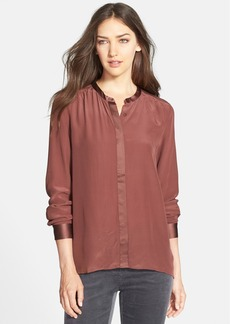 Eileen Fisher Long Silk Shirt (Regular & Petite) (Online Only)