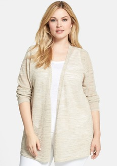Eileen Fisher Long Straight Linen Blend Cardigan (Plus Size)