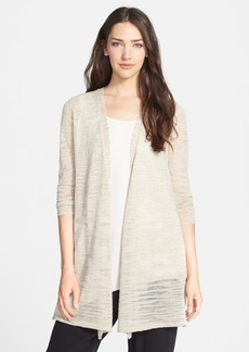 Eileen Fisher Long Straight Linen Blend Cardigan