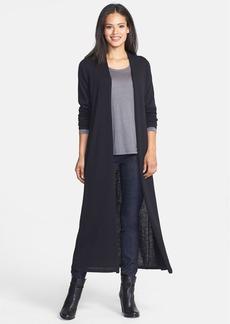 Eileen Fisher Long Wool Jersey Cardigan (Regular & Petite)