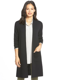 Eileen Fisher Long Wool Kimono Cardigan (Regular & Petite)