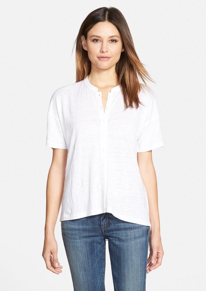 Eileen fisher eileen fisher mandarin collar organic cotton for Eileen fisher organic cotton t shirt
