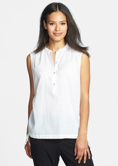 Eileen Fisher Mandarin Collar Organic Cotton Top