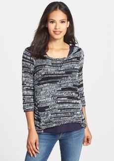 Eileen Fisher Marled Bateau Neck Sweater