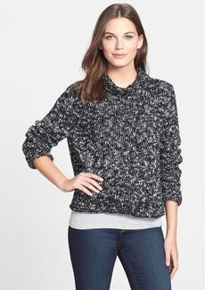 Eileen Fisher Marled Organic Cotton Boxy Turtleneck Sweater (Regular & Petite)