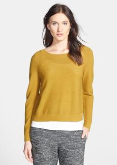 Eileen Fisher Merino Bateau Neck Boxy Sweater (Regular & Petite) (Online Only)