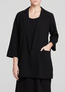 Eileen Fisher Notch Collar Boxy Silk Jacket