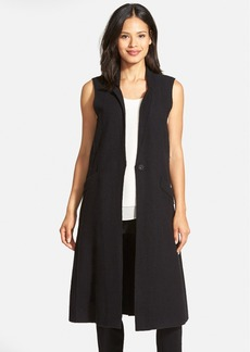 Eileen Fisher Notch Collar Long Merino Wool Vest (Regular & Petite)