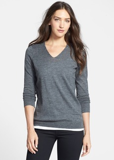 Eileen Fisher The Fisher Project Open Back Alpaca V-Neck Sweater