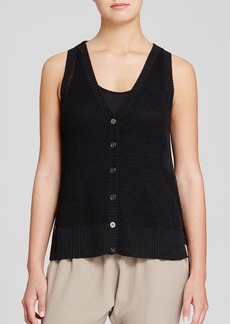 Eileen Fisher Open Knit Linen Vest