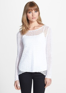 Eileen Fisher Open Stitch Scoop Neck Sweater (Regular & Petite)