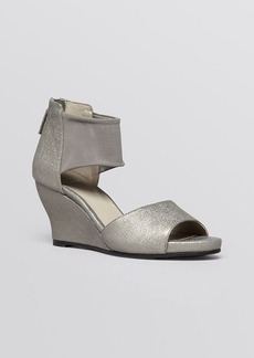 Eileen Fisher Open Toe Platform Wedge Sandals - Corona