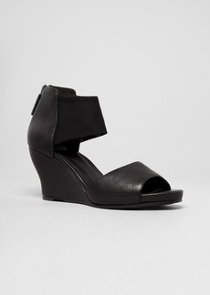 Eileen Fisher Open Toe Platform Wedge Sandals - Corona Stretch