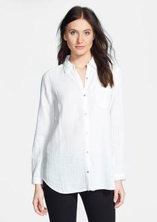 Eileen Fisher Organic Cotton Classic Collar Shirt (Petite)
