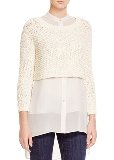 Eileen Fisher Organic Cotton Crop Sweater