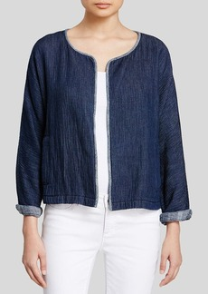 Eileen Fisher Organic Cotton Denim Jacket