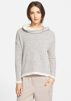 Eileen Fisher Organic Cotton Hooded Boxy Top