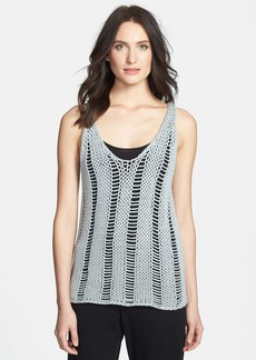 Eileen Fisher Organic Cotton Racerback Tank Sweater