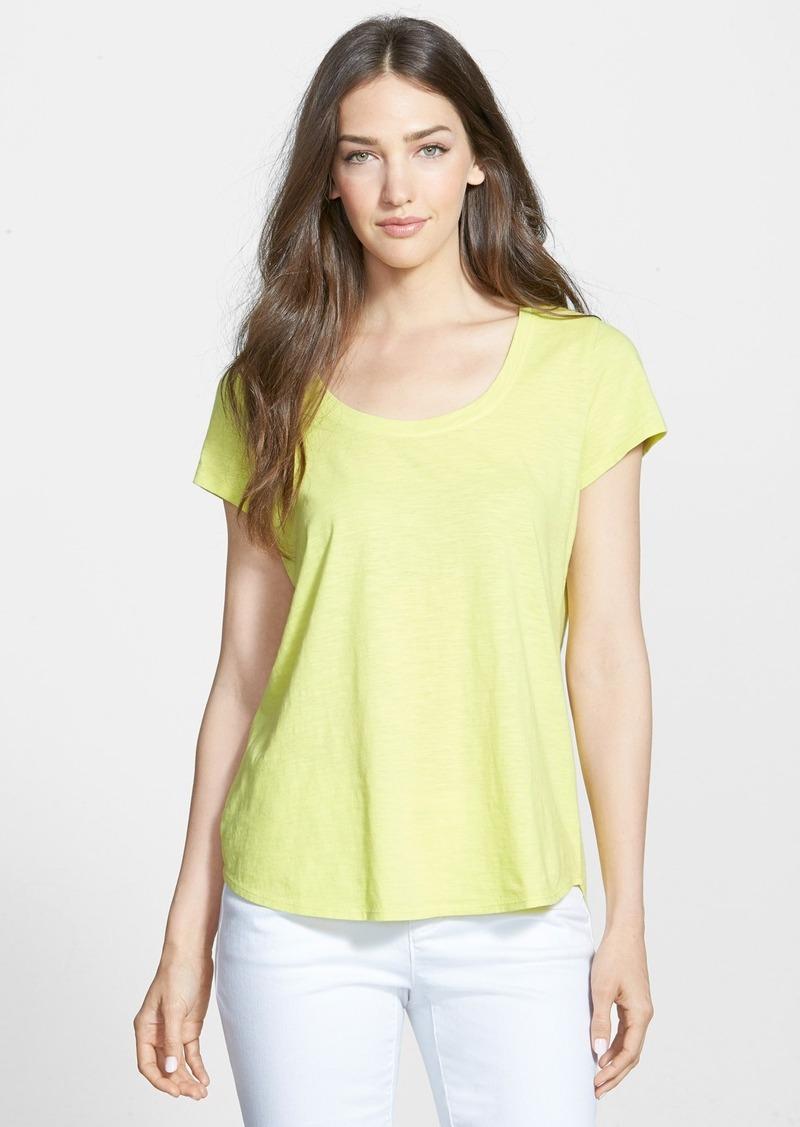 Eileen fisher eileen fisher organic cotton scoop neck tee for Eileen fisher organic cotton t shirt