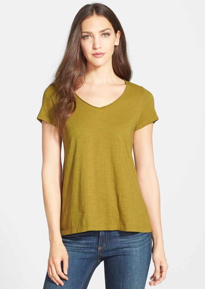 Eileen fisher eileen fisher organic cotton v neck tee for Eileen fisher organic cotton t shirt