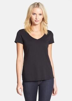 Eileen Fisher Organic Cotton V-Neck Tee (Regular & Petite)