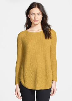 Eileen Fisher Organic Linen & Cotton Ballet Neck Tunic