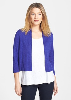 Eileen Fisher Organic Linen & Cotton Crop Cardigan (Petite)