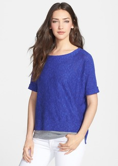 Eileen Fisher Organic Linen & Cotton Scoop Neck Top (Regular & Petite)