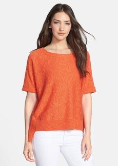 Eileen Fisher Organic Linen & Cotton Scoop Neck Top (Regular & Petite)