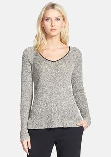Eileen Fisher Organic Linen & Wool V-Neck Sweater (Regular & Petite)