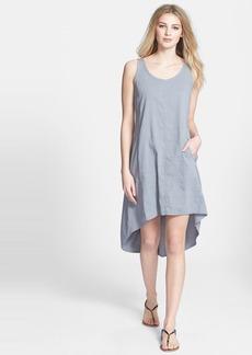 Eileen Fisher Organic Linen Blend Scoop Neck Dress (Petite)