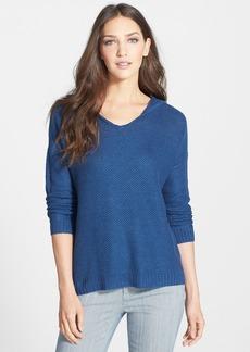 Eileen Fisher Organic Linen Hooded V-Neck Top (Regular & Petite)