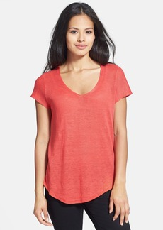 Eileen Fisher Organic Linen V-Neck Top