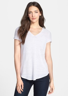 Eileen Fisher Organic Linen V-Neck Top (Regular & Petite)