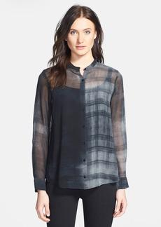 Eileen Fisher Oxidized Boxy Silk Shirt (Online Only)