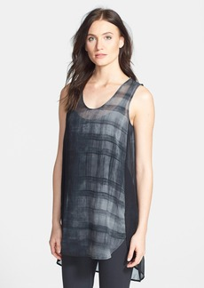 Eileen Fisher Oxidized Silk V-Neck Tunic (Regular & Petite)