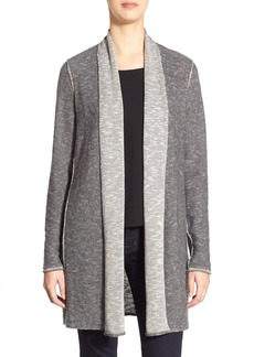 Eileen Fisher Plait Detail Organic Linen & Cotton Long Cardigan