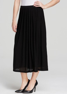 Eileen Fisher Pleated Silk Skirt
