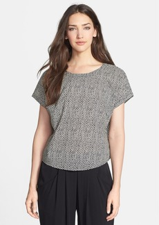 Eileen Fisher Print Organic Cotton Boxy Top