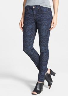 Eileen Fisher Print Stretch Skinny Jeans (Indigo)