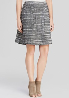 Eileen Fisher Printed Pleated Skirt
