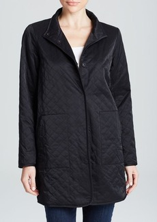 Eileen Fisher Quilted Long Jacket