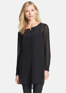 Eileen Fisher Round Neck Long Silk Tunic