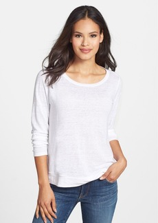 Eileen Fisher Round Neck Organic Linen Boxy Top (Petite)