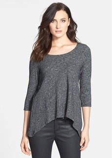 Eileen Fisher Scoop Neck Asymmetrical Knit Top (Online Only)