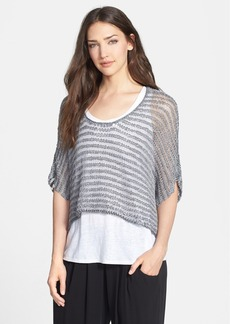 Eileen Fisher Scoop Neck Boxy Crop Top