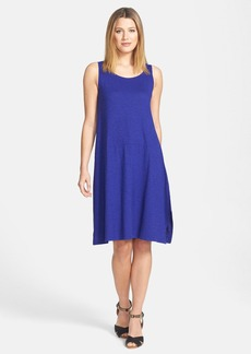 Eileen Fisher Scoop Neck Hemp & Organic Cotton Knit Dress (Petite)