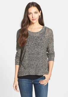 Eileen Fisher Scoop Neck Organic Linen Sweater